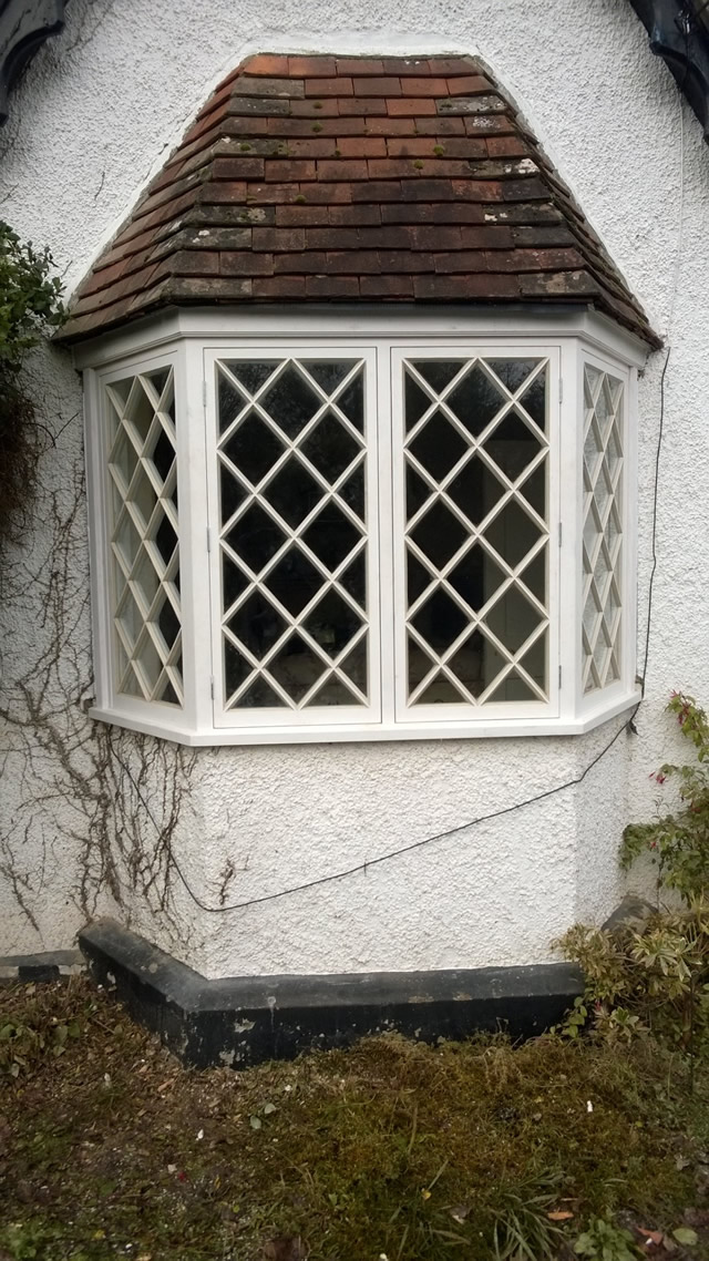 New bay window after