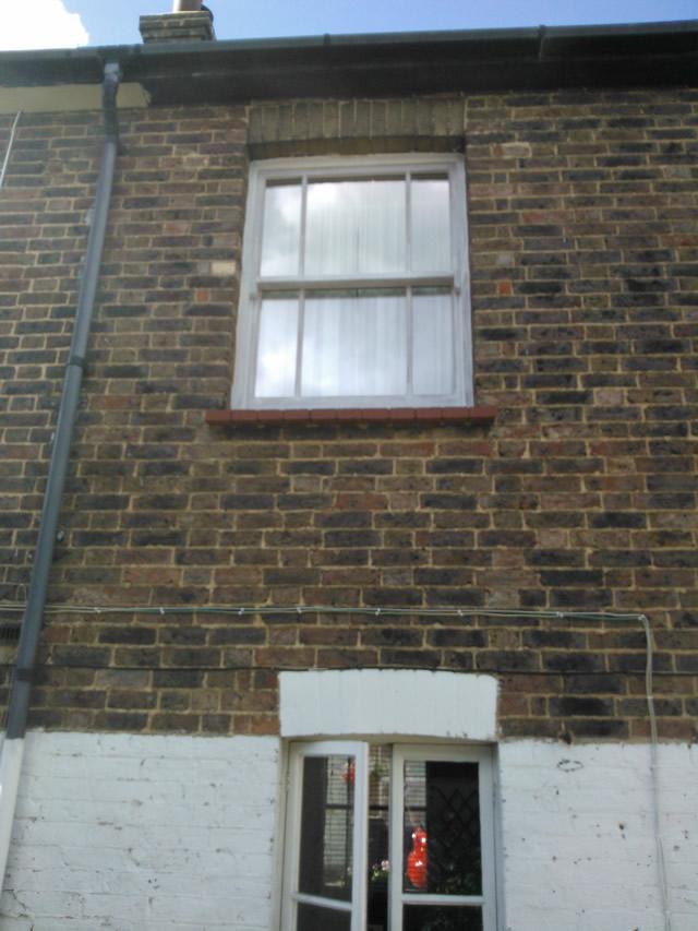 sliding sash window before
