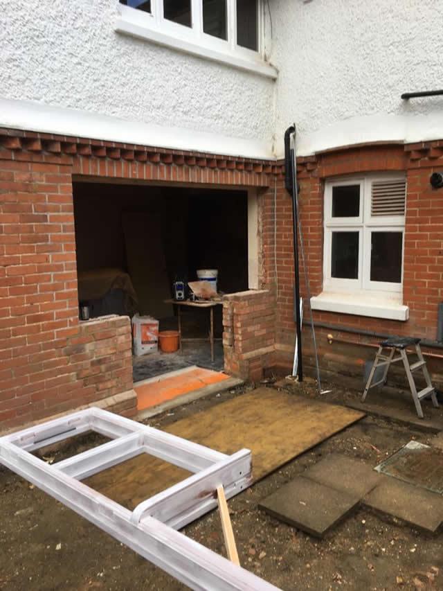 New hardwood doors from kitchen to garden 1