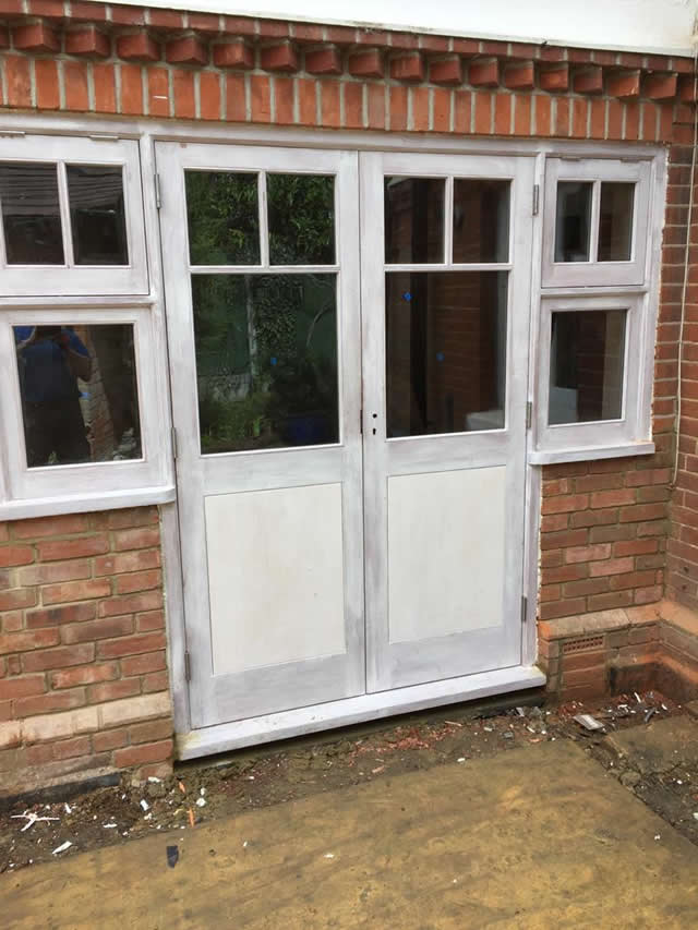 New hardwood doors from kitchen to garden 2